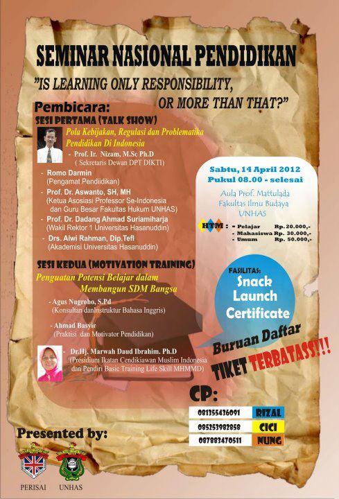 Seminar Nasional Pendidikan Mengupas RUU PT
