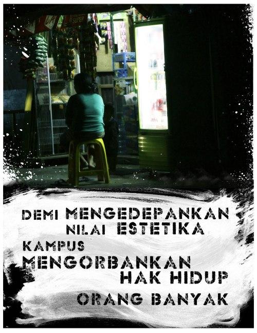 Poster:Tolak Penggusuran Pintu Nol Unhas