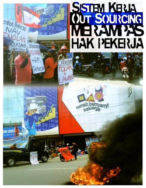 Poster: Penolakan Terhadap Rencana Outsourching PT NAV Jaya Mandiri